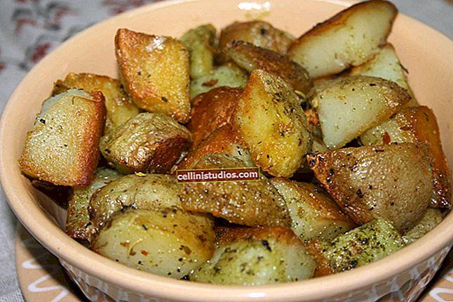 Cara menggoreng kentang untuk mendapatkan kerak dan rasa keemasan
