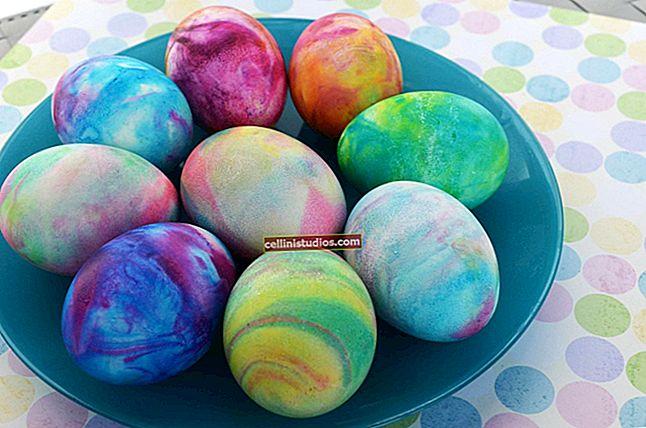Cara mengecat telur dengan efek marmer: 4 cara asli
