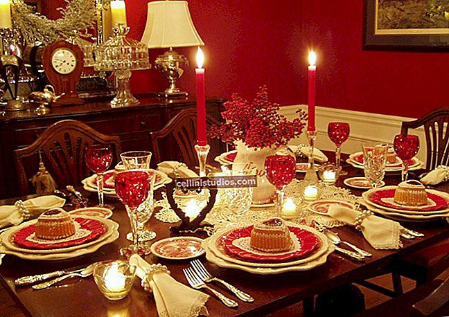 Pengaturan meja - cara mengatur dengan benar dan indah pada hari libur dan hari kerja